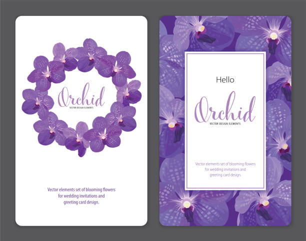 royalty free blue orchid wedding clip art vector images