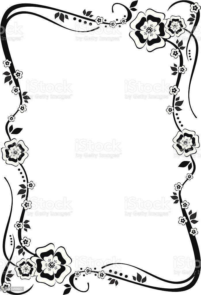 Flower frame royalty-free flower frame stock vector art & more images of art