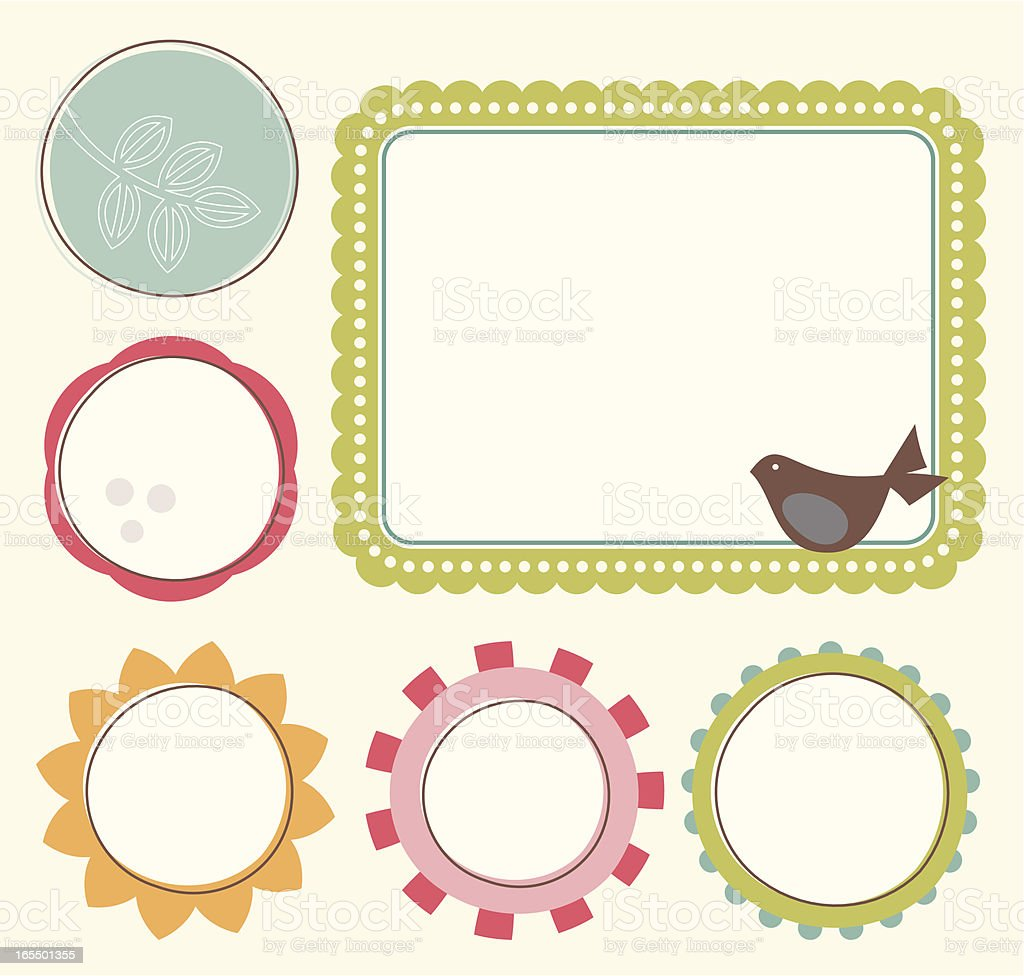 Flower frame royalty-free stock vector art