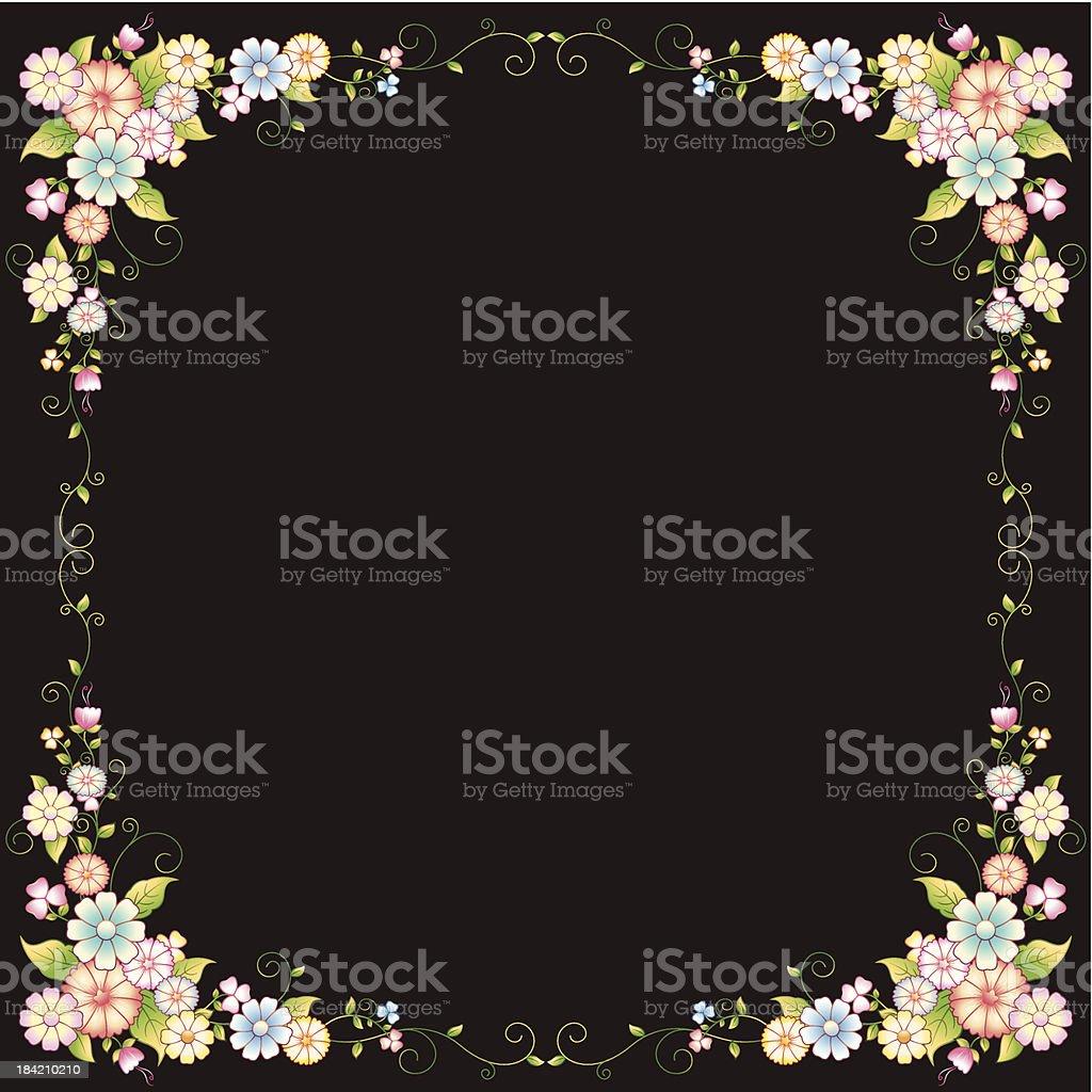 Flower Frame royalty-free flower frame stock vector art & more images of abstract