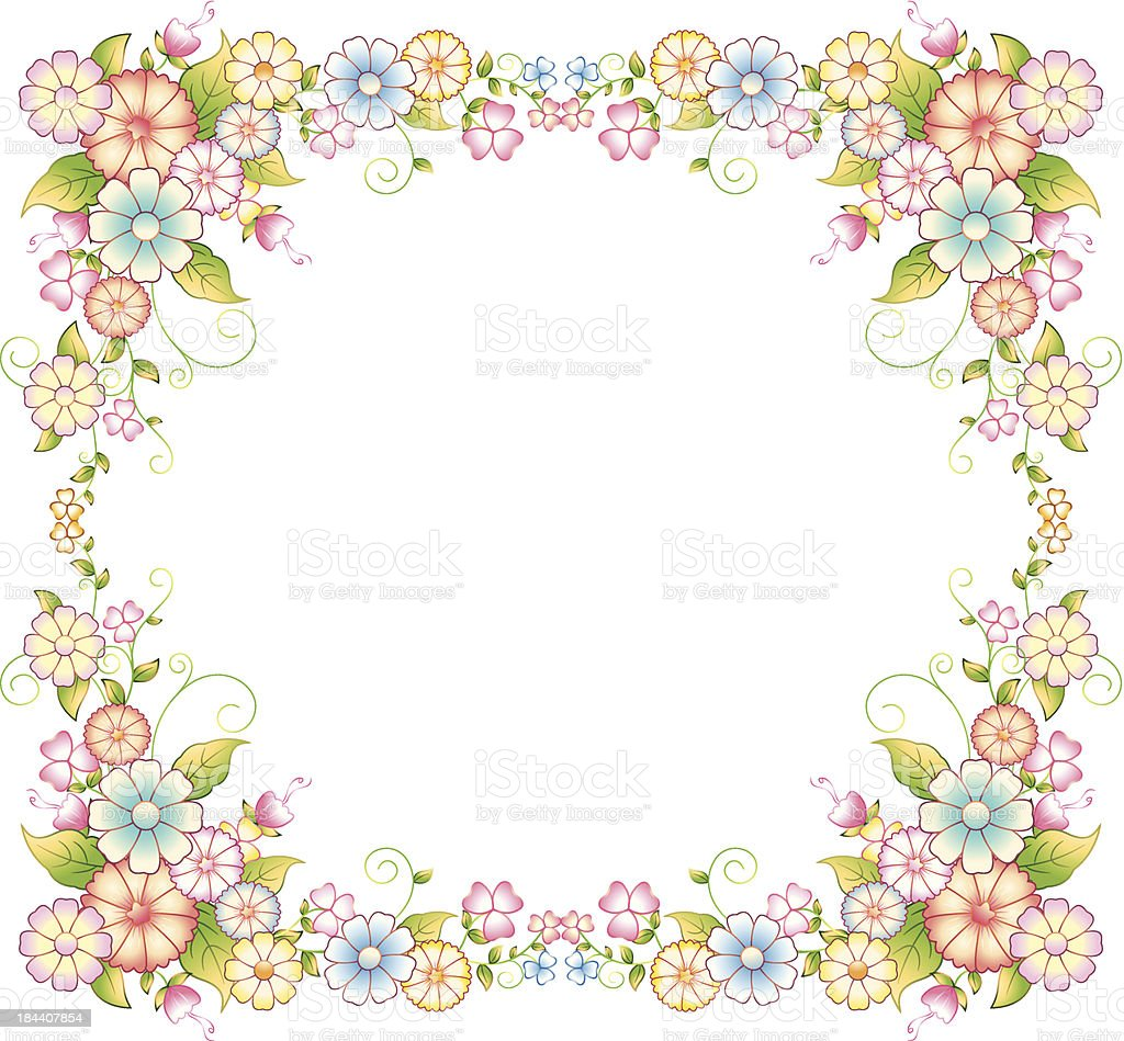 Flower Frame vector art illustration