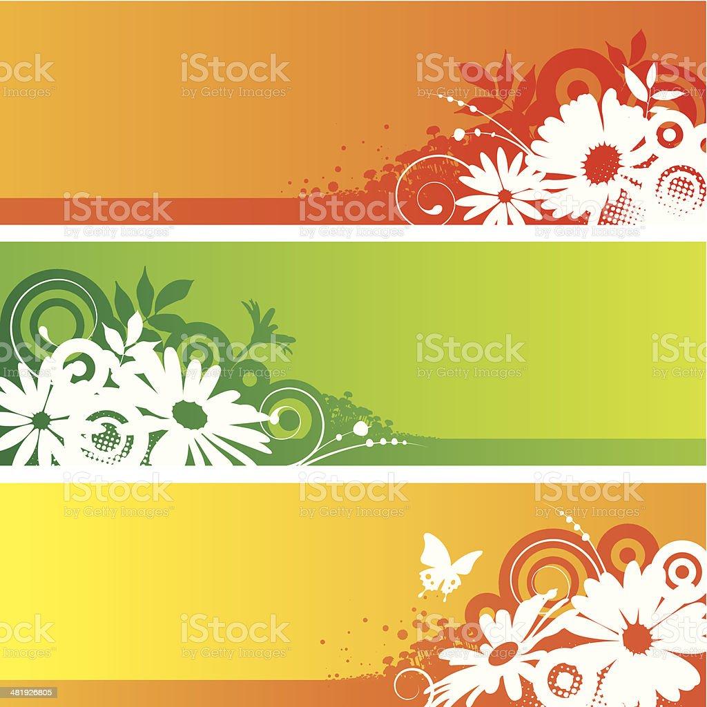 Flower frames vector art illustration