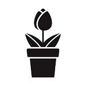 istock Flower Gardening Glyph Icon 1304993934