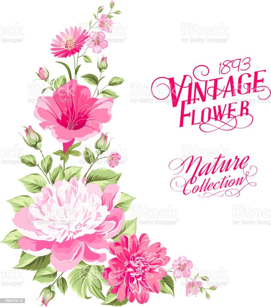 Flower Garland For Invitation Card Stock Vector Art & More ...