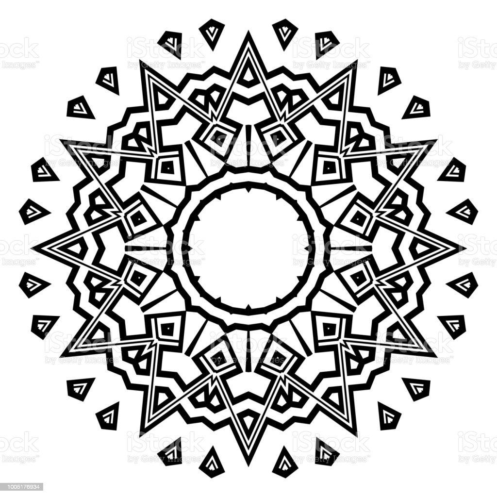 çiçek Geometrik Mandala Yazdırılabilir Paket Dekoratif öğeler Boyama
