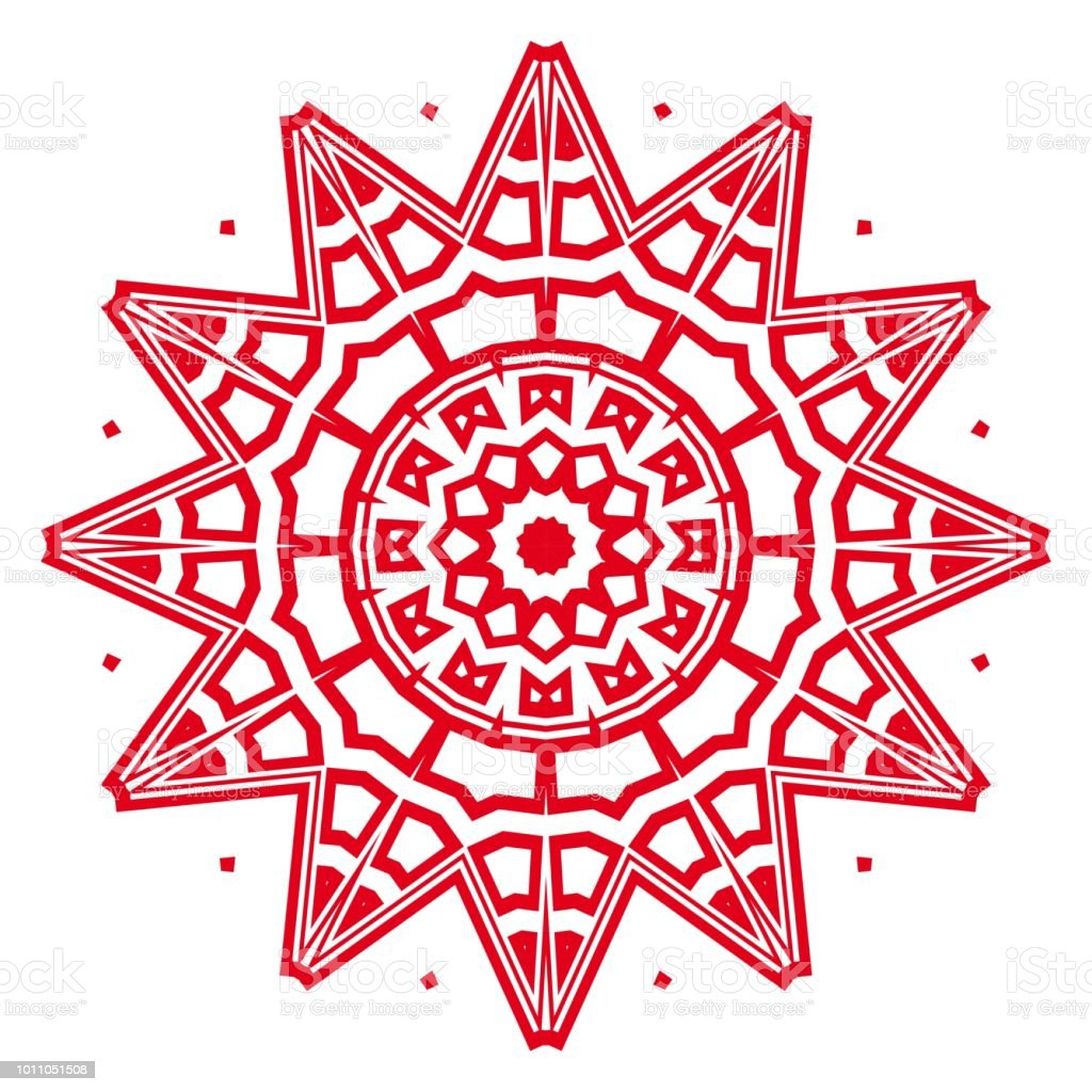 Flower Geometric Mandala Printable Package Decorative Elements ...