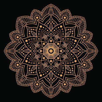 Flower gold black element design
