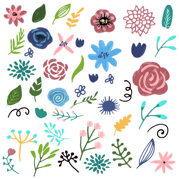 Royalty Free Drawing Of Earth Wind Fire Water Symbols Clip Art