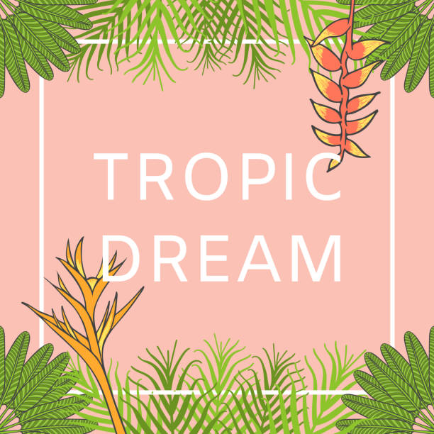 flower hawaiian background vector. floral summer fashion t-shirt print design template. aloha poster illustration. tropical wedding invitation, exotic jungle party banner or bali spa resort flyer. - summer fashion stock illustrations, clip art, cartoons, & icons