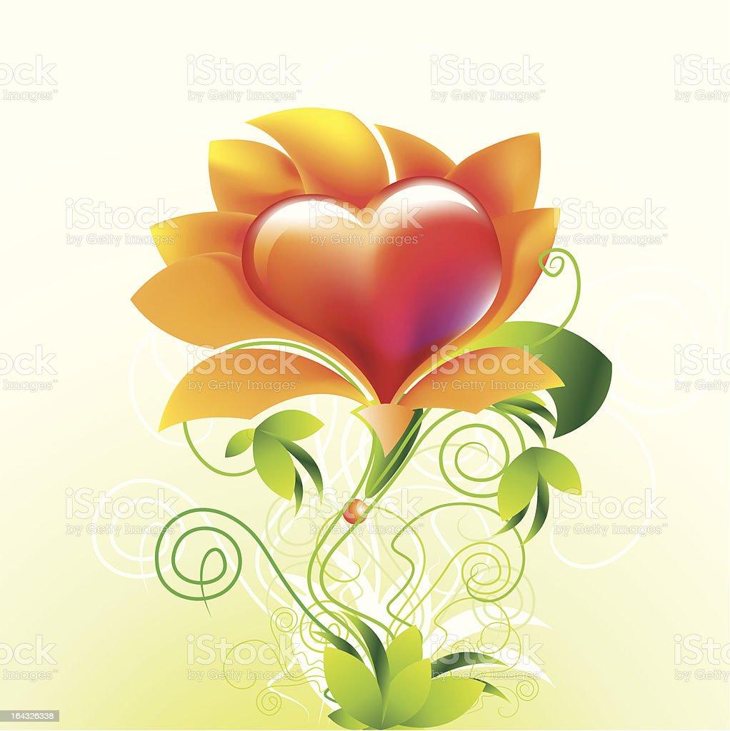 flower heart royalty-free flower heart stock vector art & more images of affectionate