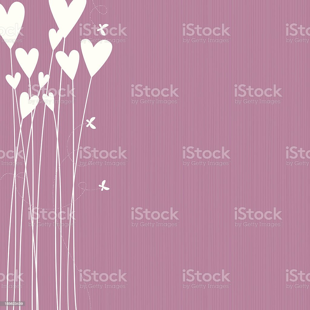 Flower Hearts vector art illustration