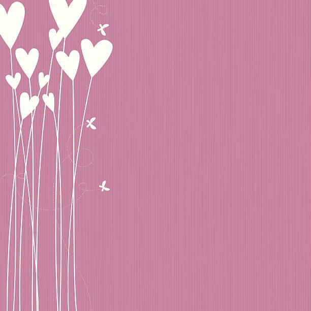 Flower Hearts vector art illustration