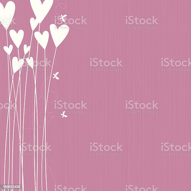 Flower Hearts Stock Illustration - Download Image Now