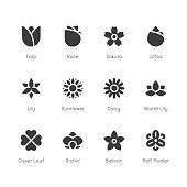 Flower Icon Gray Series Vector EPS File.