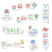 istock Flower Icon On A Sticker With A Drop Shadow 1299855727