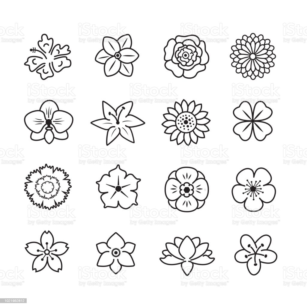Blume icon-set – Vektorgrafik