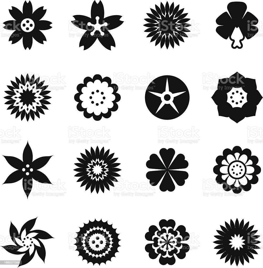 Flower Icon Set royalty-free flower icon set stock vector art & more images of autumn