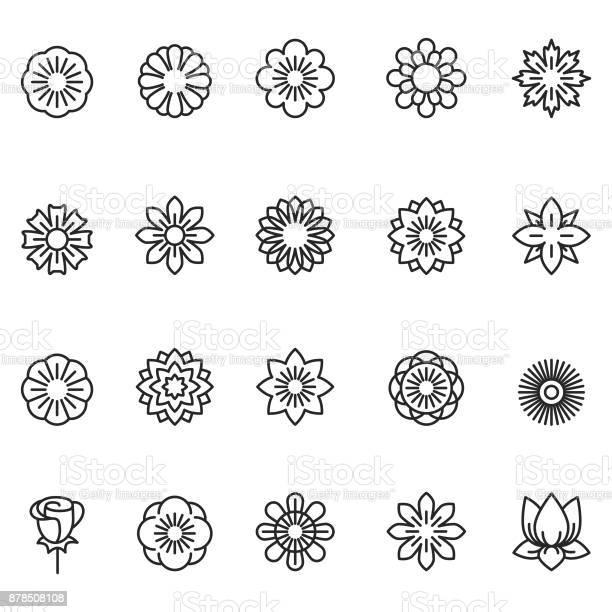 Flower icon set vector id878508108?b=1&k=6&m=878508108&s=612x612&h=f yoycqilvnhmp35ol03bql8pjkjtpyv8hneeq2de2q=