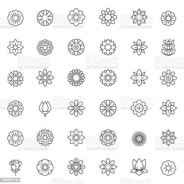 Flower icon set vector id896984184?b=1&k=6&m=896984184&s=612x612&h=gfdllfuoft482zahxqemk4p2u7jruan377kz2wvdypq=
