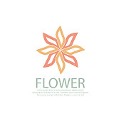 flower icon. eps 10 vector file