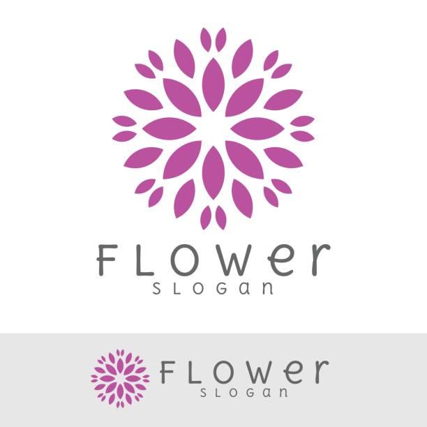 flower icon vector art illustration
