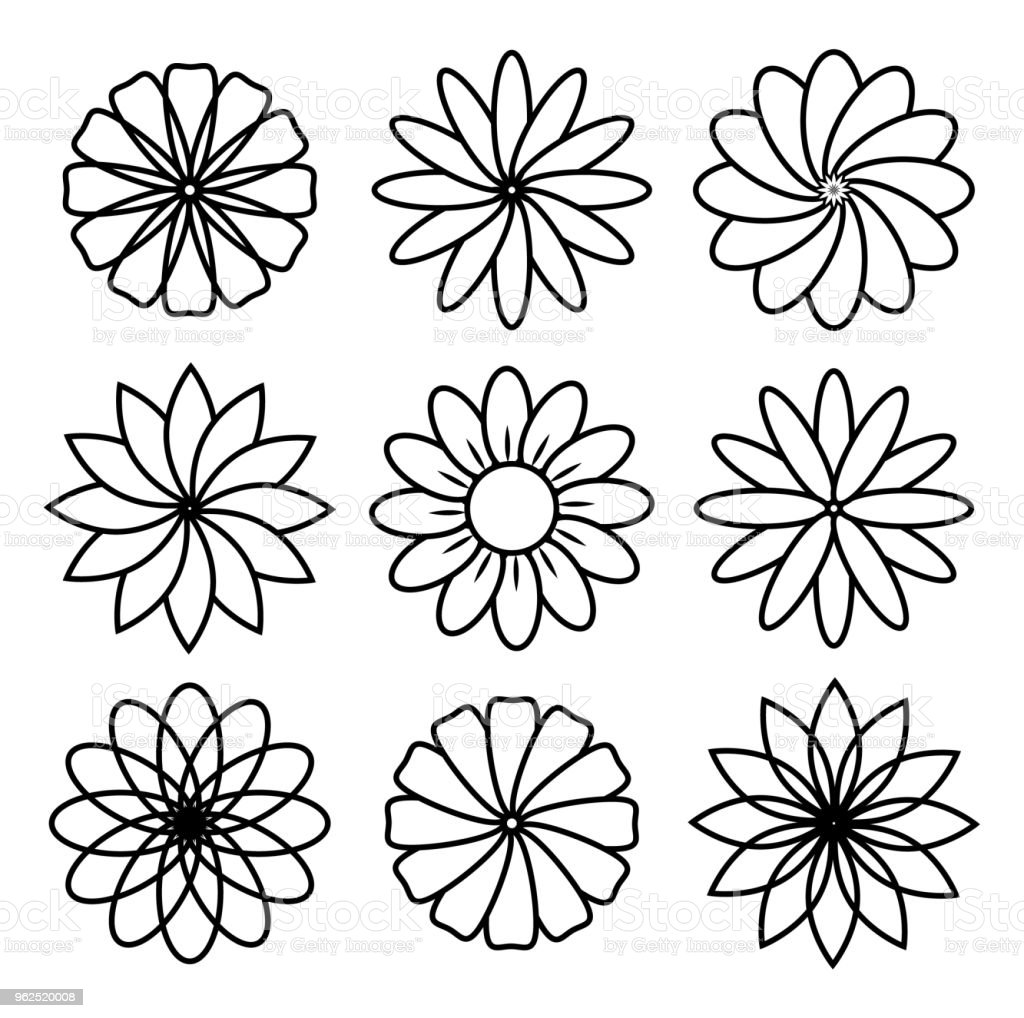 flower icon - Royalty-free Abstract stock vector
