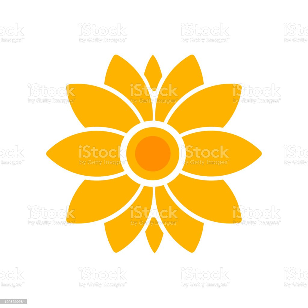 Flower Icon Vector Sign And Symbol Isolated On White Background