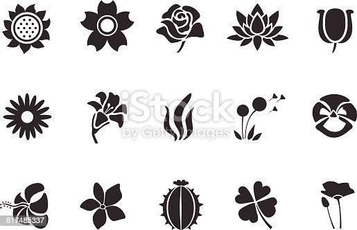 Flower icons - Illustration