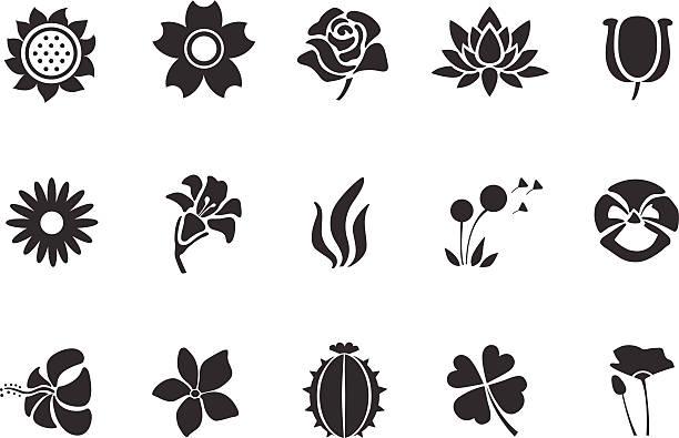 Flower icons - Illustration Flower icons - Illustration flower head stock illustrations