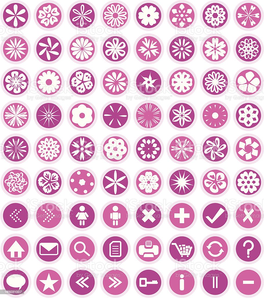 Flower Icons & Symbols ( Vector ) royalty-free flower icons symbols stock vector art & more images of arrow symbol