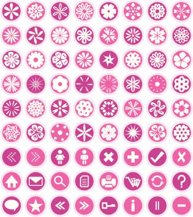 Flower Icons & Symbols ( Vector )