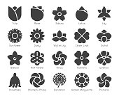 Flower Icons Vector EPS File.