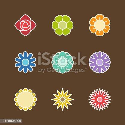 Flower icons,vector illustration. EPS 10.