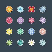 Flower icons,vector illustration. EPS 10.