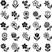Flower icon collection - vector illustration
