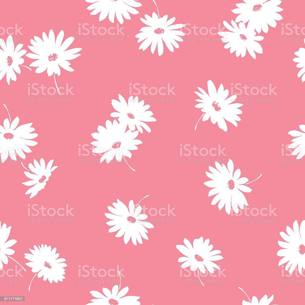 花のイラスト模様 イラストレーションのベクターアート素材や画像を