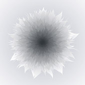 Vector Flower In Gray And Black Color, Gray Background, Mother's Day, Brochure, Banner, Invitation and Greeting Card