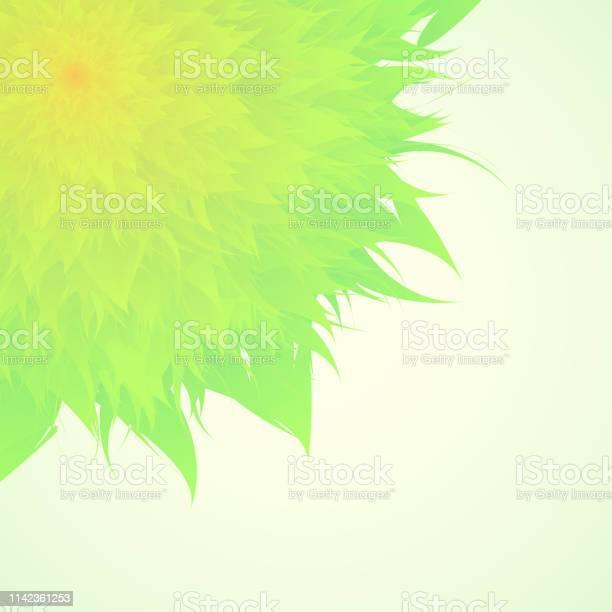 Wedding Invitation Card On Green Background Vector Art