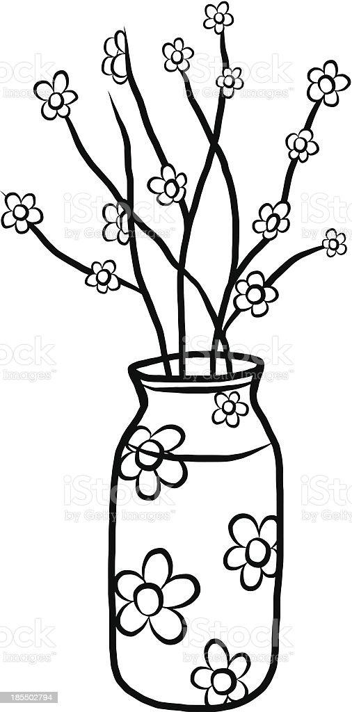 flower in jar royalty-free stock vector art