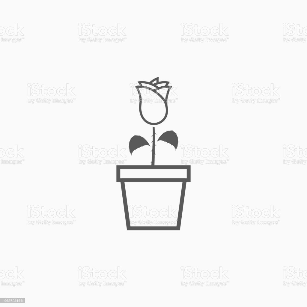 flower in pot icon - Royalty-free Beauty stock vector