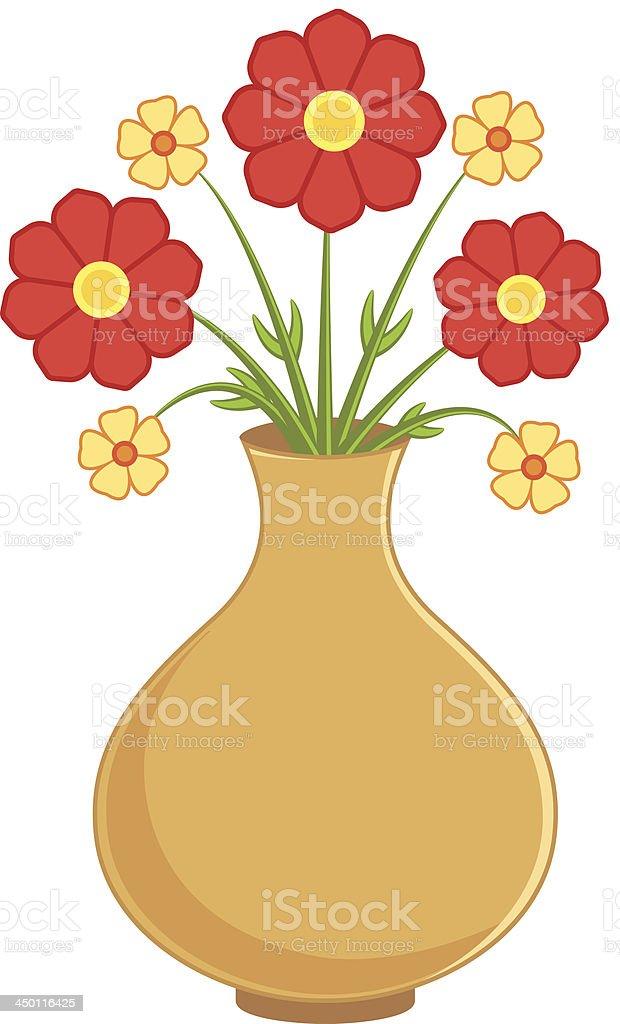 Flower in vase royalty-free stock vector art