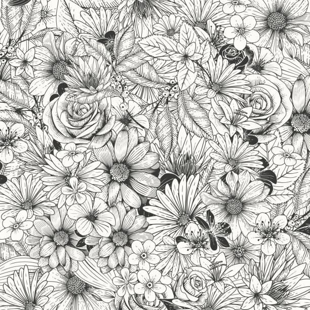 Blume-Einladung – Vektorgrafik
