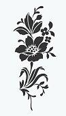 Flower isolated on white,flower motif design.