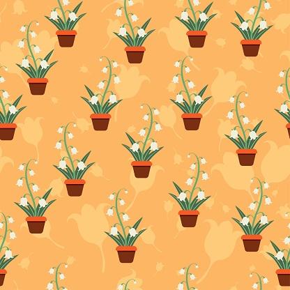 Flower layered pattern seamless vector floral motifs background