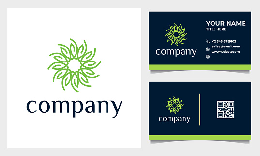 Flower logo design with line art style. logo for spa, beauty salon, decoration, boutique