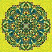 Abstract Flower Mandala. Decorative element for design. Vector illustration.