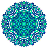 Abstract Flower Mandala. Decorative element for design. Vector illustration.