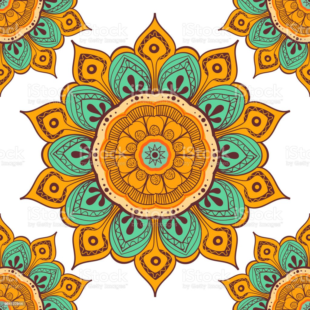 Vetores De Fundo Colorido Mandala De Flor Para Imprimir Cartoes