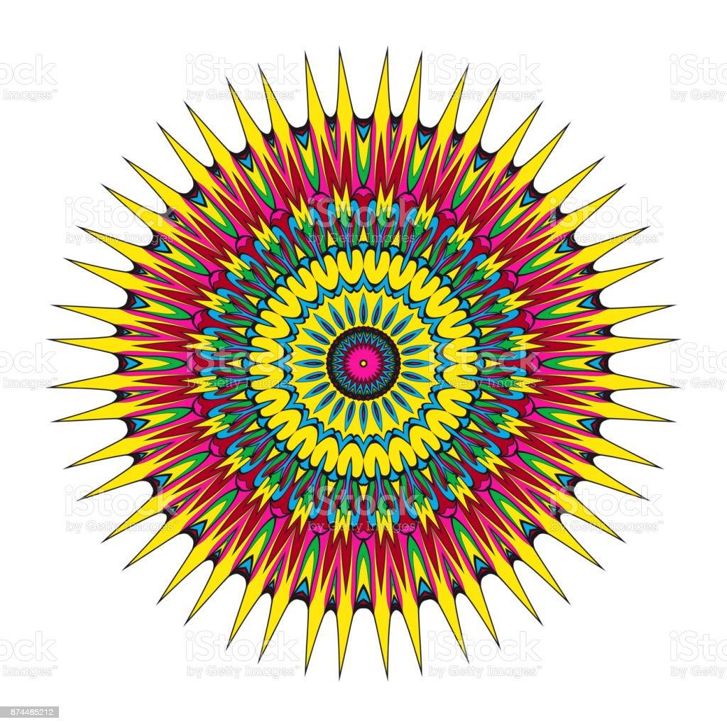 Modele Fleur Coloriage.Conception De Fleur De Mandala Vecteur Serie Modele Coloriage Design