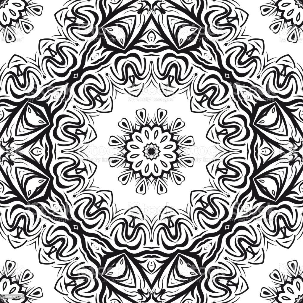 Flower Mandala Printable Decorative Elements Vector